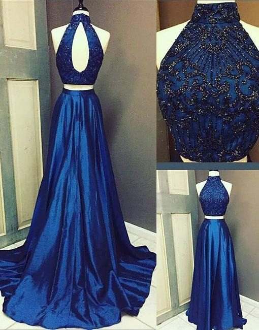 Charming Prom Dress, Elegant Prom Dress, Beaded Prom Dress, Sleeveless Prom Dress, Long Evening Dress, Formal Dress