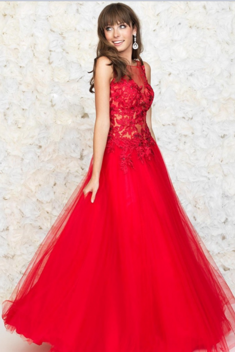 Sexy Prom Dresses,Cheap Prom Dresses,Open Back Prom Dresses, Red Prom Dresses,Appliques Prom Dresses