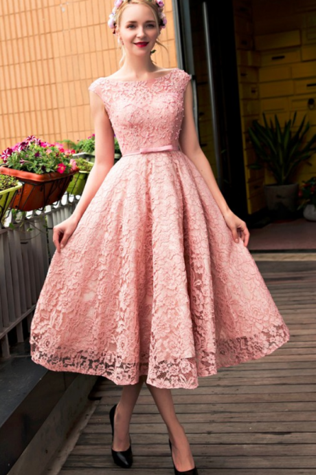 Short Prom Dress,Pink Homecoming Dresses,Party Dresses, Appliques Homecoming Dresses