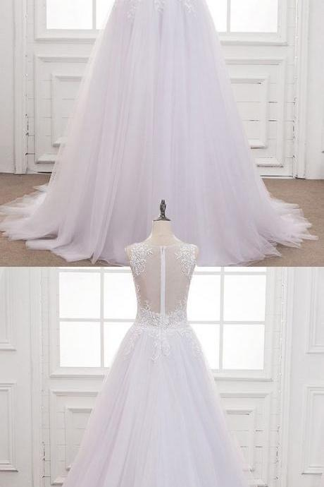 Wonderful Tulle & Organza ,Spaghetti Straps Neckline, Natural Waistline ,Mermaid Wedding Dress With Lace Appliques & Beadings , Lace Appliques, Customize Made,2018 New Fashion ,Prom Dress