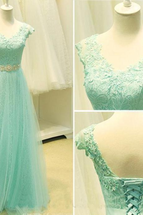 Lace Prom Dress,Long Prom Dress ,Elegant Women Dress,Party Dress,Beading Dress,Formal Party Dress,Custom Made Size