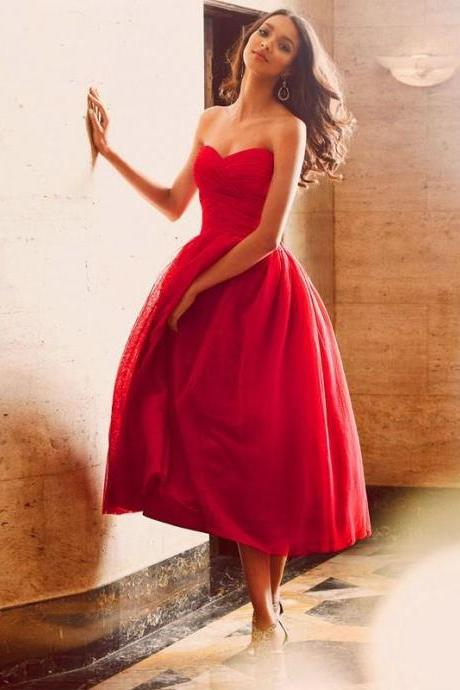 Homecoming Dress, Red Prom Gown, Short Prom Dresses, Formal Dress, Red Party Dress, Graduation Dress, Maxi Dress, Cocktail Dress