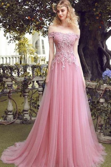 strapless Pink Tulle Lace Evening Dresses off shoulder Open Back appliques Light Purple Prom Dresses Sexy Backless Party Dresses Evening Gowns